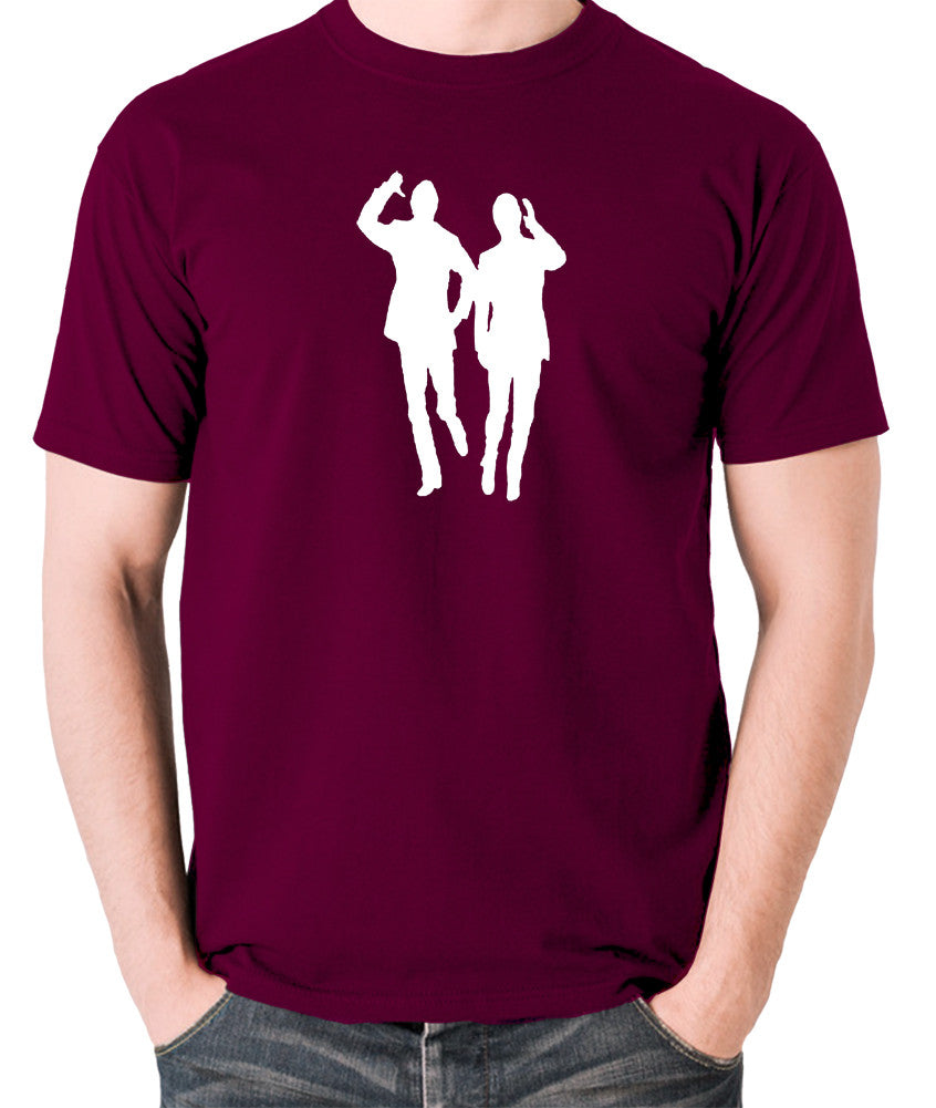 Morecambe And Wise - Eric & Ernie, Bring Me Sunshine - Men's T Shirt - burgundy