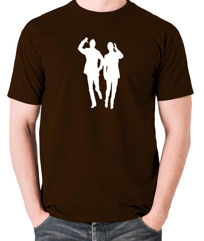 Morecambe And Wise - Eric & Ernie, Bring Me Sunshine - Men's T Shirt - chocolate