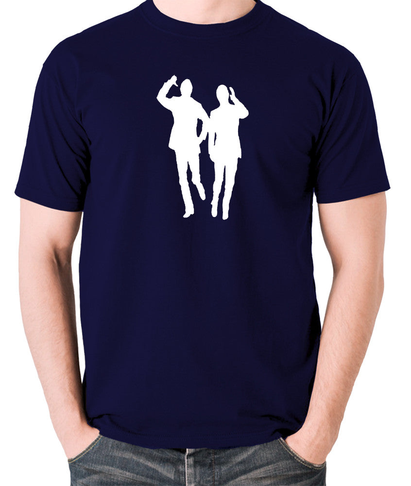 Morecambe And Wise - Eric & Ernie, Bring Me Sunshine - Men's T Shirt - navy