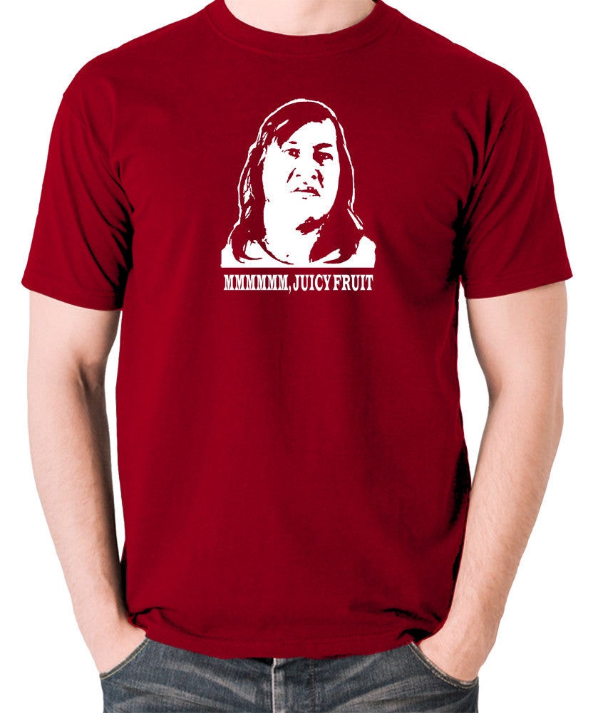 One Flew Over The Cuckoos Nest - Chief Broom, Mmmm Juicy Fruit - Men's T Shirt - brick red