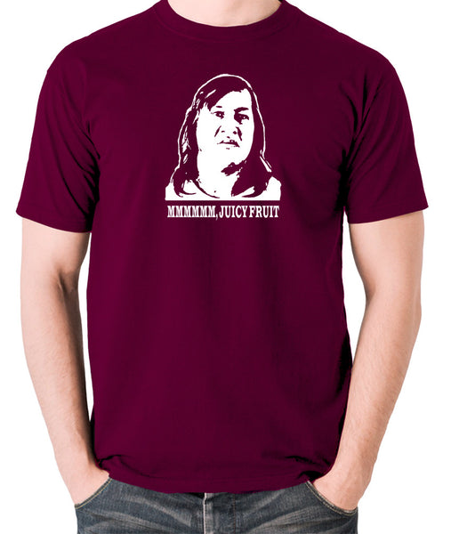 One Flew Over The Cuckoos Nest - Chief Broom, Mmmm Juicy Fruit - Men's T Shirt - burgundy
