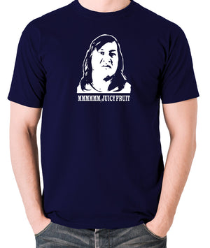 One Flew Over The Cuckoos Nest - Chief Broom, Mmmm Juicy Fruit - Men's T Shirt - navy
