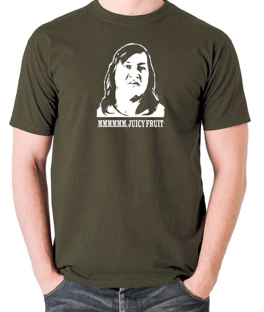 One Flew Over The Cuckoos Nest - Chief Broom, Mmmm Juicy Fruit - Men's T Shirt - olive