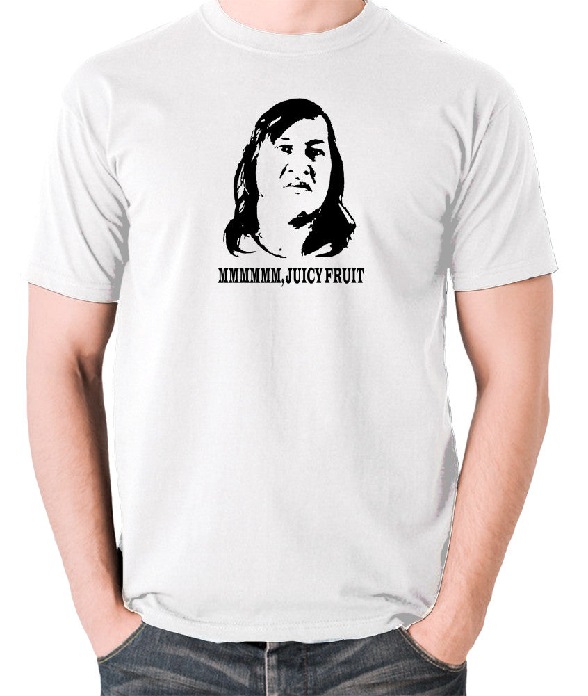 One Flew Over The Cuckoos Nest - Chief Broom, Mmmm Juicy Fruit - Men's T Shirt - white