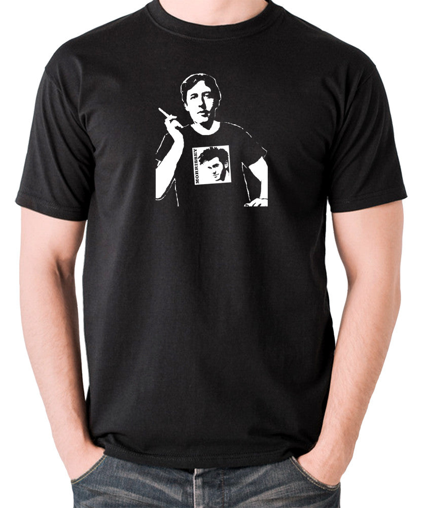 Oscar Wilde Wearing Morrissey T Shirt - Men's T Shirt - black