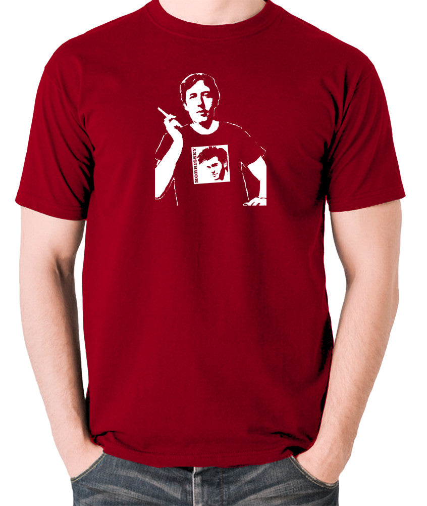 Oscar Wilde Wearing Morrissey T Shirt - Men's T Shirt - brick red
