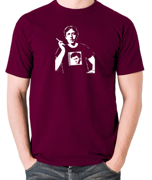Oscar Wilde Wearing Morrissey T Shirt - Men's T Shirt - burgundy