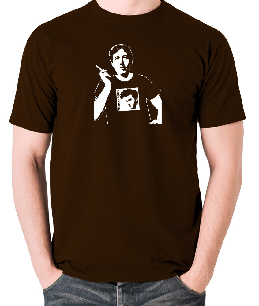Oscar Wilde Wearing Morrissey T Shirt - Men's T Shirt - chocolate