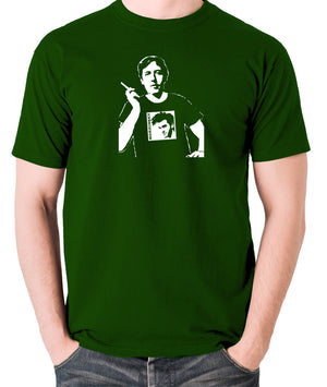 Oscar Wilde Wearing Morrissey T Shirt - Men's T Shirt - green