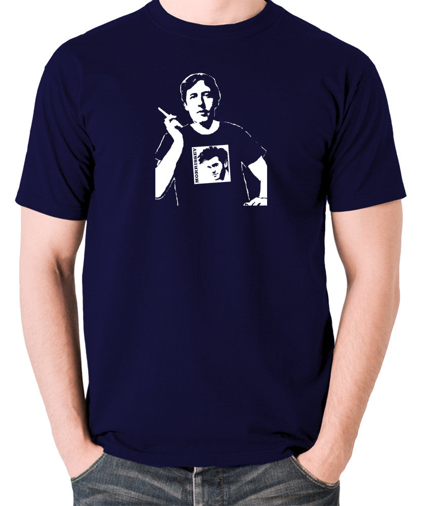 Oscar Wilde Wearing Morrissey T Shirt - Men's T Shirt - navy