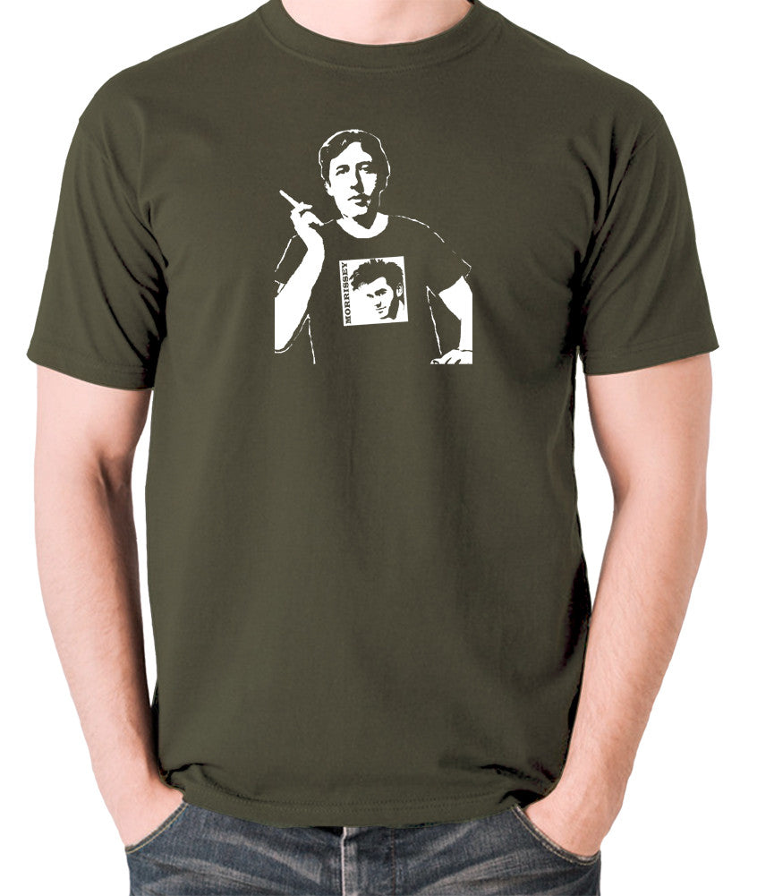 Oscar Wilde Wearing Morrissey T Shirt - Men's T Shirt - olive