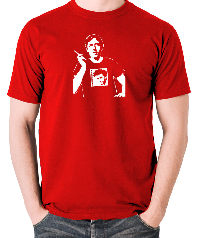 Oscar Wilde Wearing Morrissey T Shirt - Men's T Shirt - red