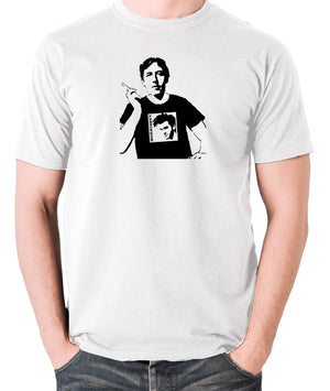 Oscar Wilde Wearing Morrissey T Shirt - Men's T Shirt - white