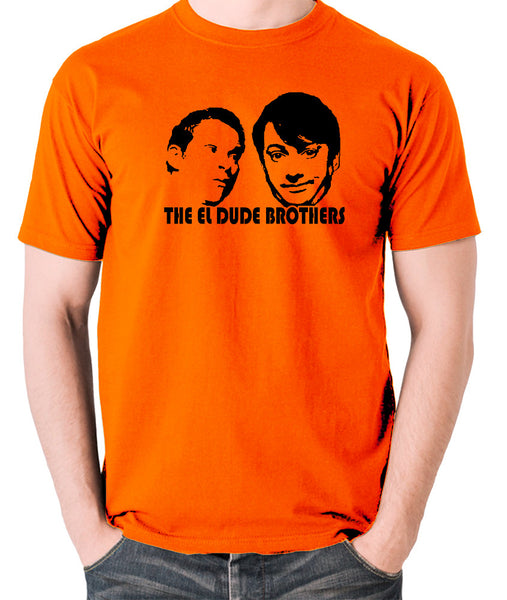 Peep Show - Mark and Jeremy, The El Dude Brothers - Men's T Shirt - orange
