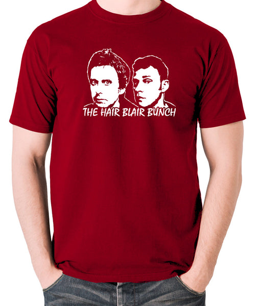 Peep Show - Jeremy and Super Hans, The Hair Blair Bunch - Men's T Shirt - brick red