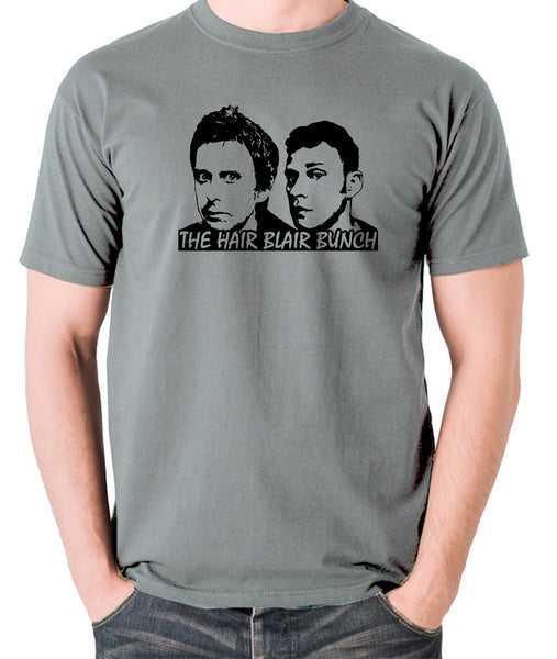 Peep Show - Jeremy and Super Hans, The Hair Blair Bunch - Men's T Shirt - grey