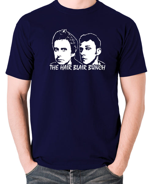 Peep Show - Jeremy and Super Hans, The Hair Blair Bunch - Men's T Shirt - navy