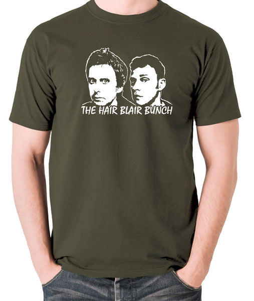 Peep Show - Jeremy and Super Hans, The Hair Blair Bunch - Men's T Shirt - olive