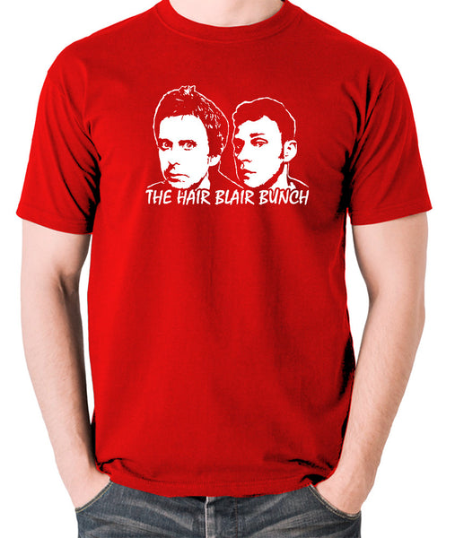 Peep Show - Jeremy and Super Hans, The Hair Blair Bunch - Men's T Shirt - red