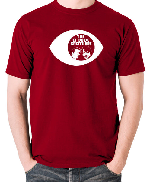 Peep Show - Eye, Mark and Jeremy, The El Dude Brothers - Men's T Shirt - brick red