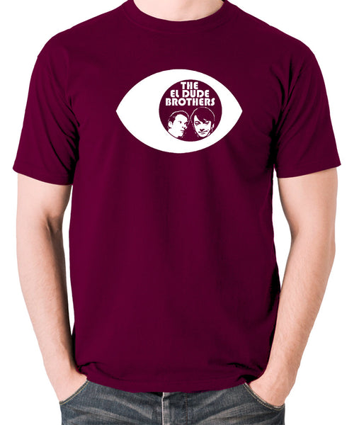 Peep Show - Eye, Mark and Jeremy, The El Dude Brothers - Men's T Shirt - burgundy