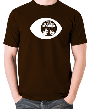Peep Show - Eye, Mark and Jeremy, The El Dude Brothers - Men's T Shirt - chocolate