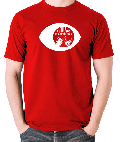 Peep Show - Eye, Mark and Jeremy, The El Dude Brothers - Men's T Shirt - red