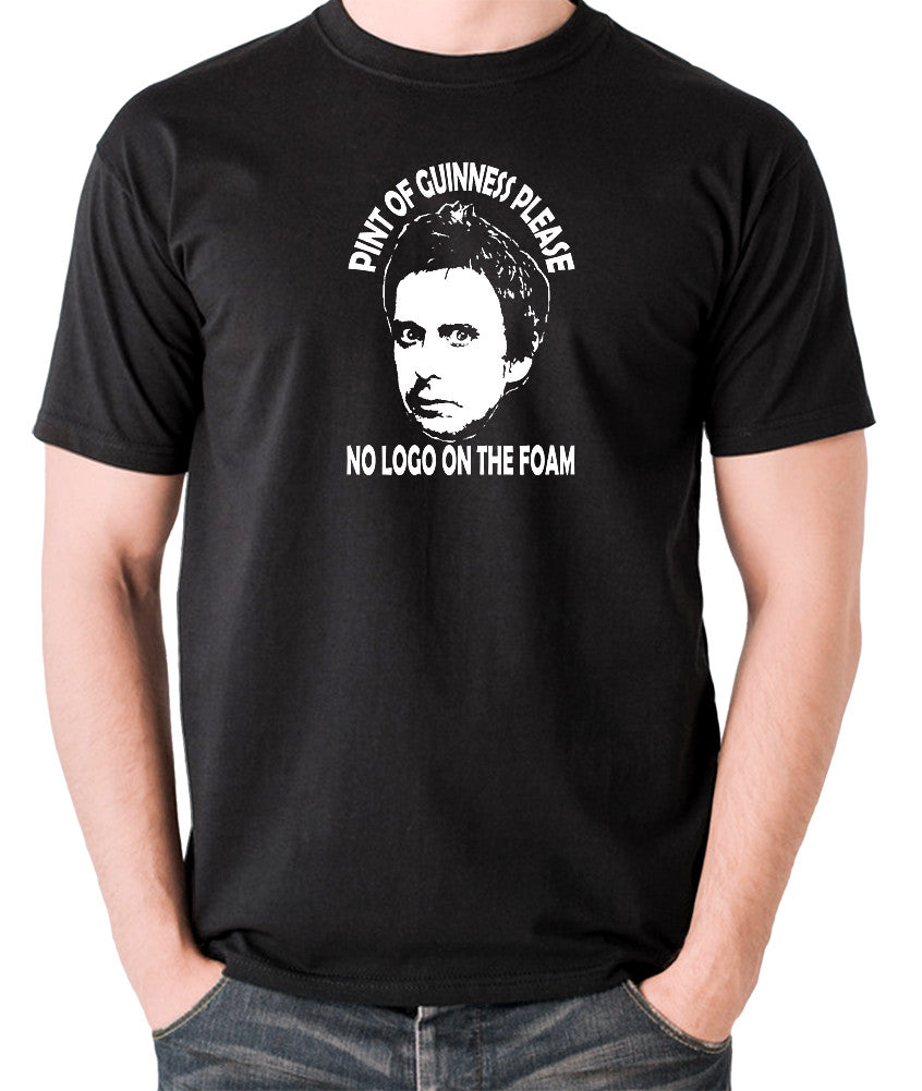 Peep Show - Super Hans, Pint of Guinness Please No Logo in the Foam - Men's T Shirt - black