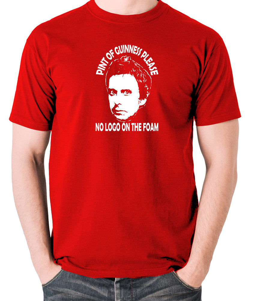 Peep Show - Super Hans, Pint of Guinness Please No Logo in the Foam - Men's T Shirt - red