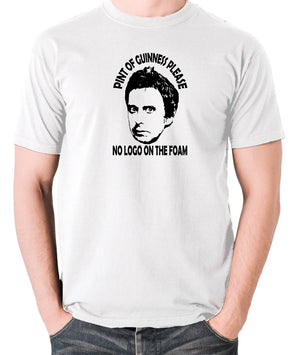 Peep Show - Super Hans, Pint of Guinness Please No Logo in the Foam - Men's T Shirt - white