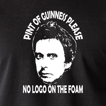 Peep Show - Super Hans, Pint of Guinness Please No Logo in the Foam - Men's T Shirt