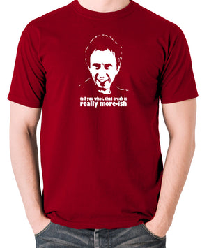 Peep Show - Super Hans, Tell You What That Crack Is Really More-ish - Men's T Shirt - brick red