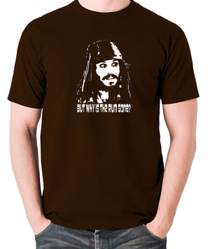 Pirates Of The Caribbean - Cpt Jack Sparrow, But Why Is The Rum Gone? - Men's T Shirt - chocolate