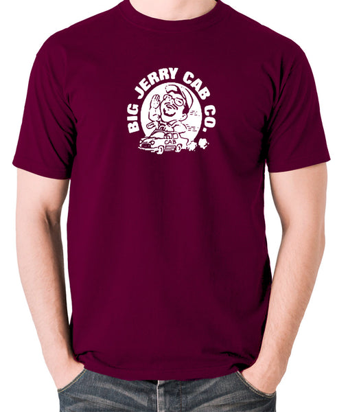 Pulp Fiction - Big Jerry Cab Co - Men's T Shirt - burgundy