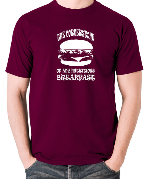 Pulp Fiction - Cornerstone of Any Nutritious Breakfast - Men's T Shirt - burgundy