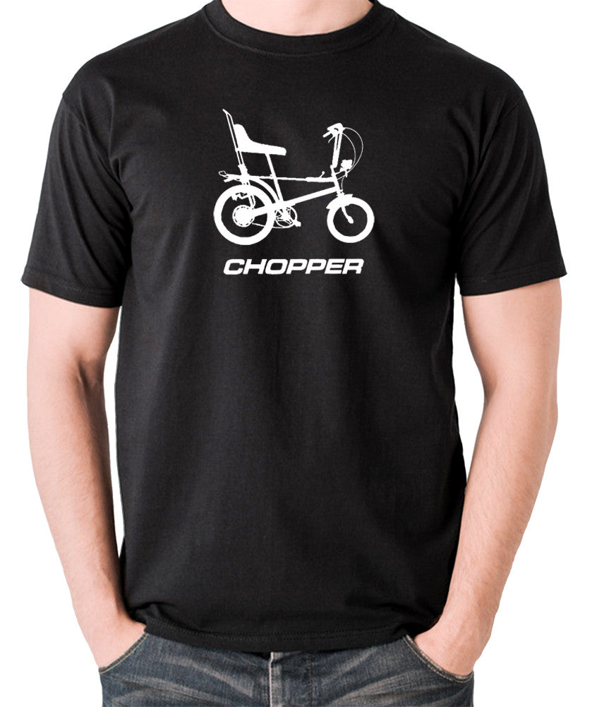 Raleigh Chopper - 1970's Classic Bicycle - Men's T Shirt - black