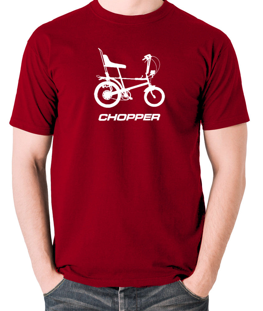 Raleigh Chopper - 1970's Classic Bicycle - Men's T Shirt - brick red