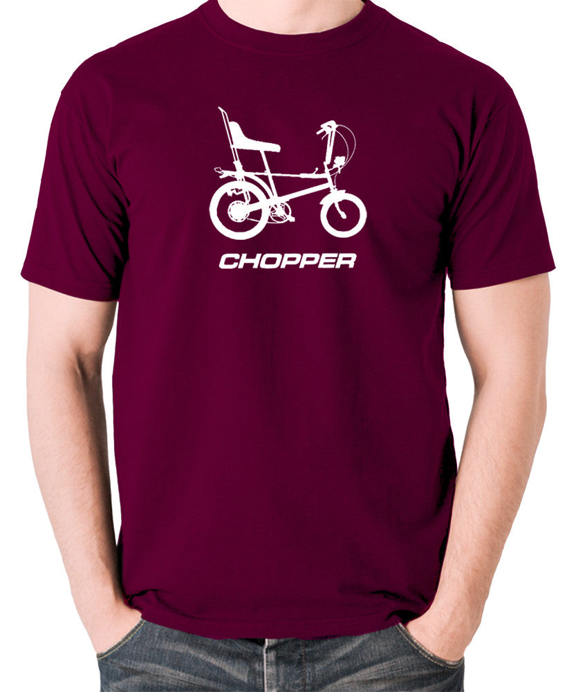 Raleigh Chopper - 1970's Classic Bicycle - Men's T Shirt - burgundy