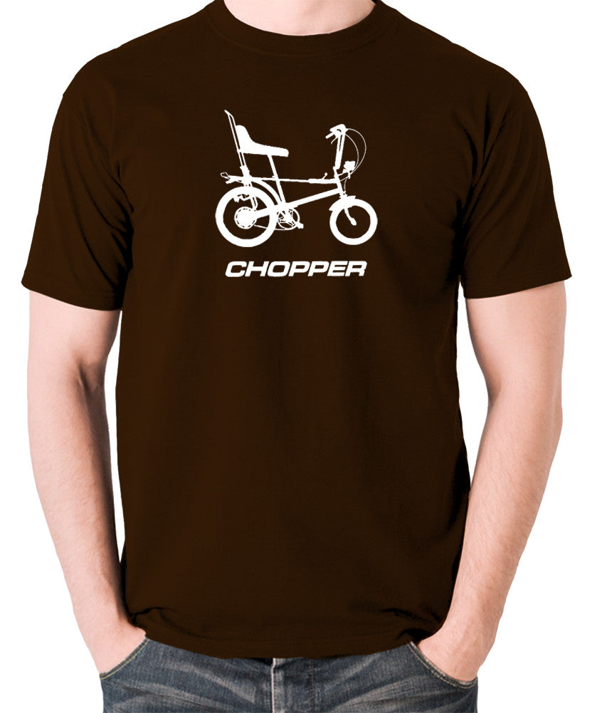 Raleigh Chopper - 1970's Classic Bicycle - Men's T Shirt - chocolate