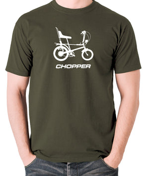 Raleigh Chopper - 1970's Classic Bicycle - Men's T Shirt - olive