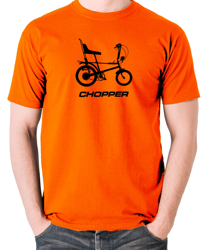 Raleigh Chopper - 1970's Classic Bicycle - Men's T Shirt - orange