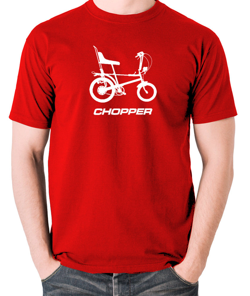 Raleigh Chopper - 1970's Classic Bicycle - Men's T Shirt - red