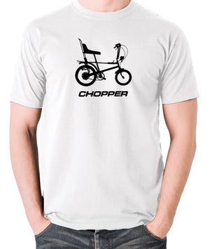 Raleigh Chopper - 1970's Classic Bicycle - Men's T Shirt - white