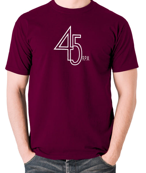Record Player - 45 RPM Revolutions Per Minute - Men's T Shirt - burgundy