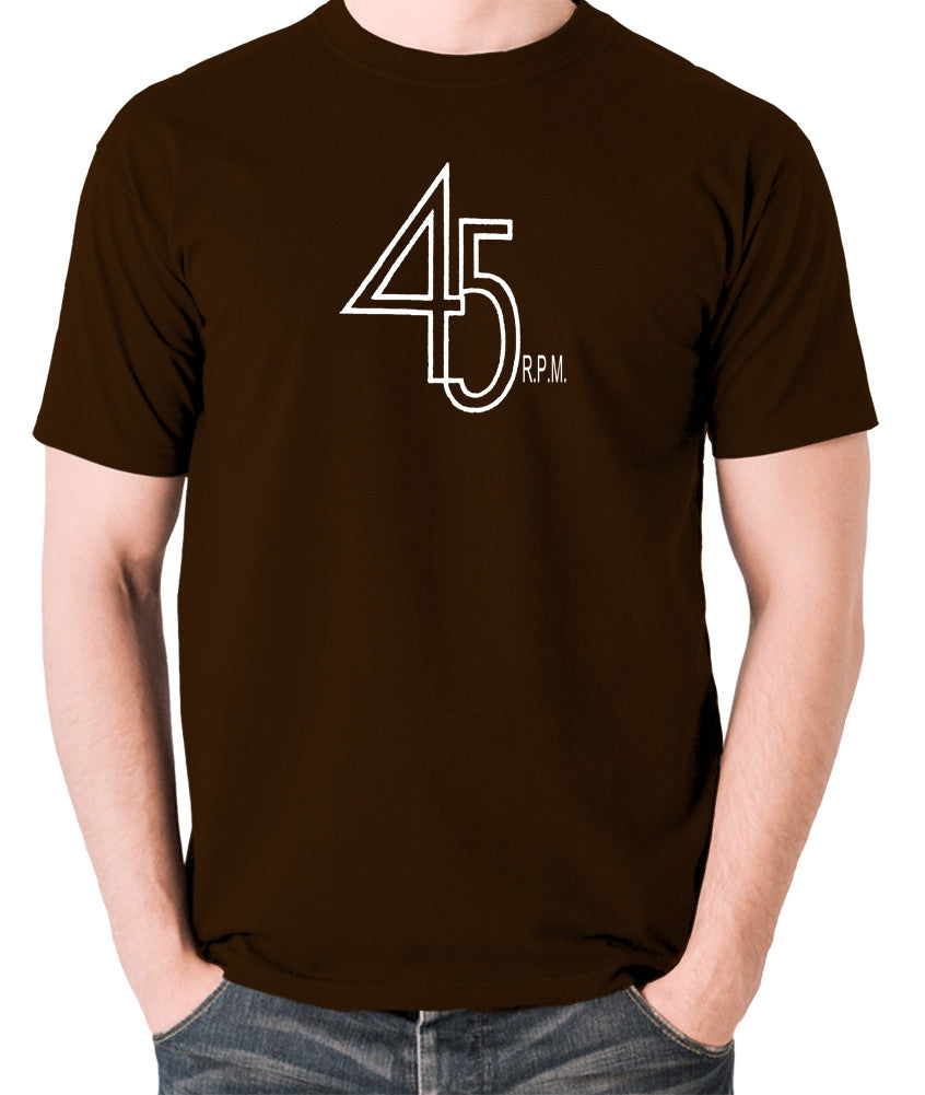 Record Player - 45 RPM Revolutions Per Minute - Men's T Shirt - chocolate
