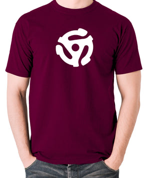 Record Player - Adapter - Men's T Shirt - burgundy