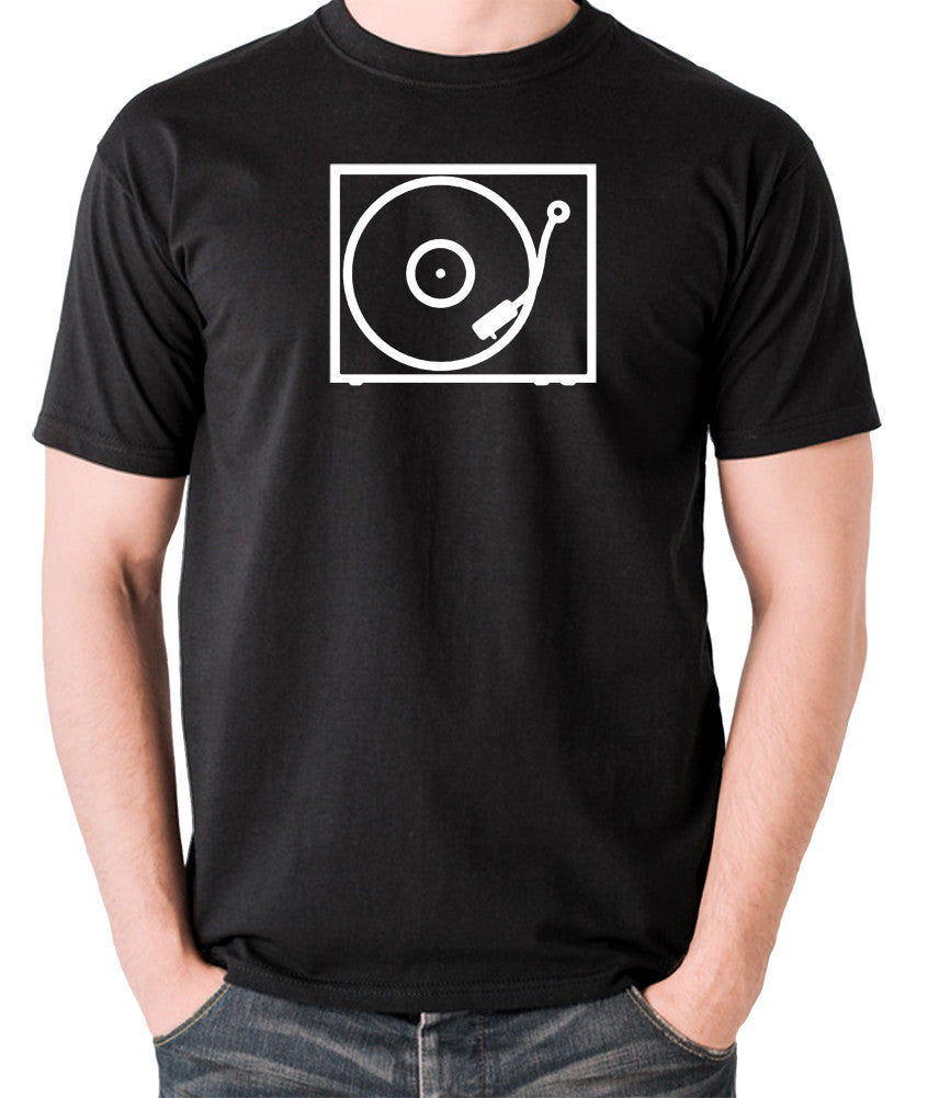 Record Player - Turntable - 1970's Classic - Men's T Shirt - black