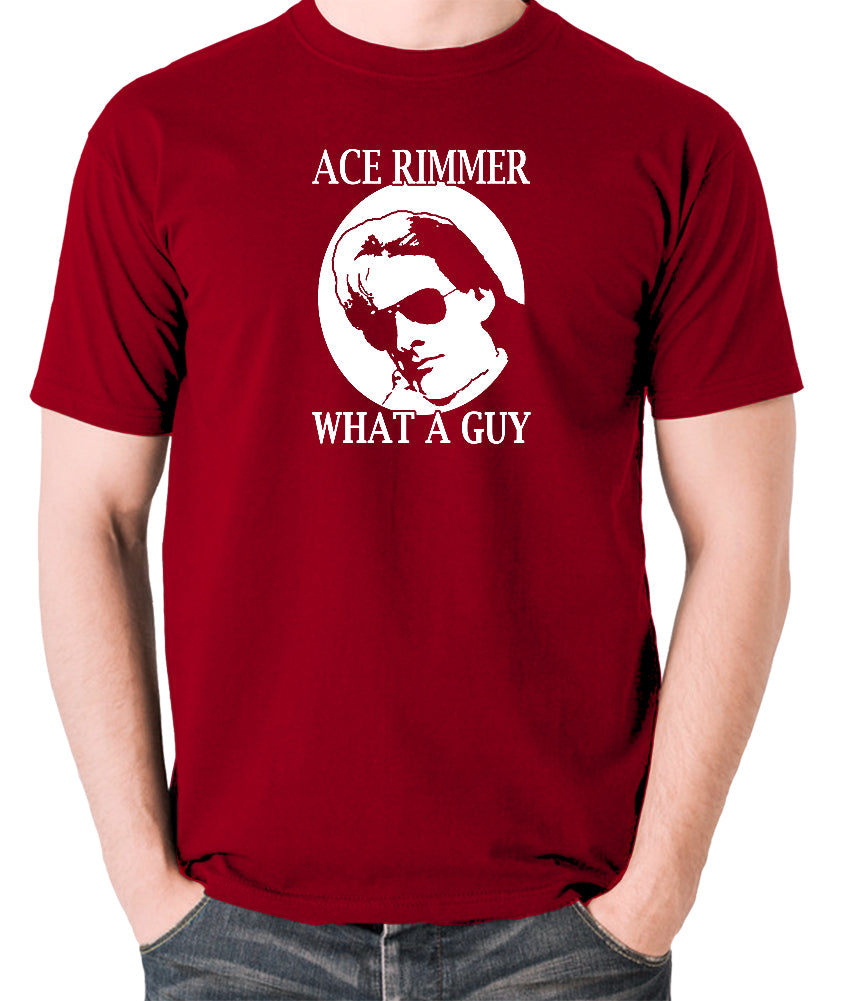 Red Dwarf - Ace Rimmer, What a Guy - Mens T Shirt - brick red