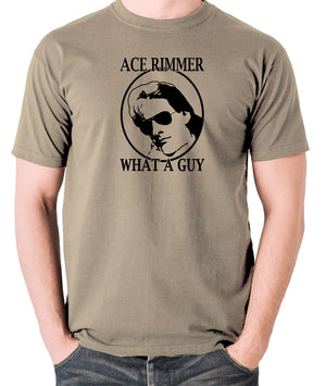 Red Dwarf - Ace Rimmer, What a Guy - Mens T Shirt - khaki