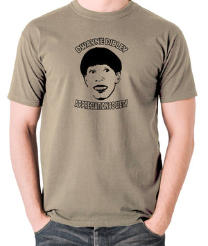 Red Dwarf - Cat, Dwayne Dibley Appreciation Society - Men's T Shirt - khaki